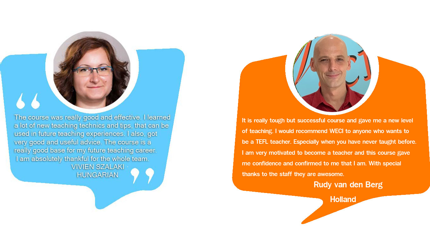 TEFL Course testimonail from Hungarian , Holland