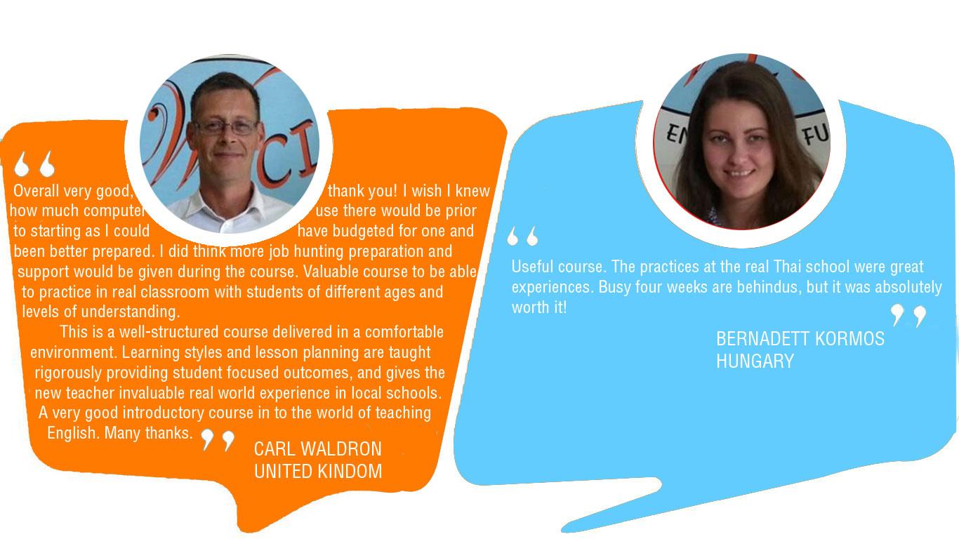 Testimonial TEFL Class in Thailand HuaHin